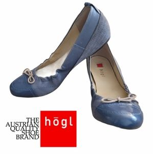 HÖGL Leather Ballerina Shoes
